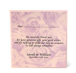 Wild Paper Designs Wedding Stationery Thank You Messages